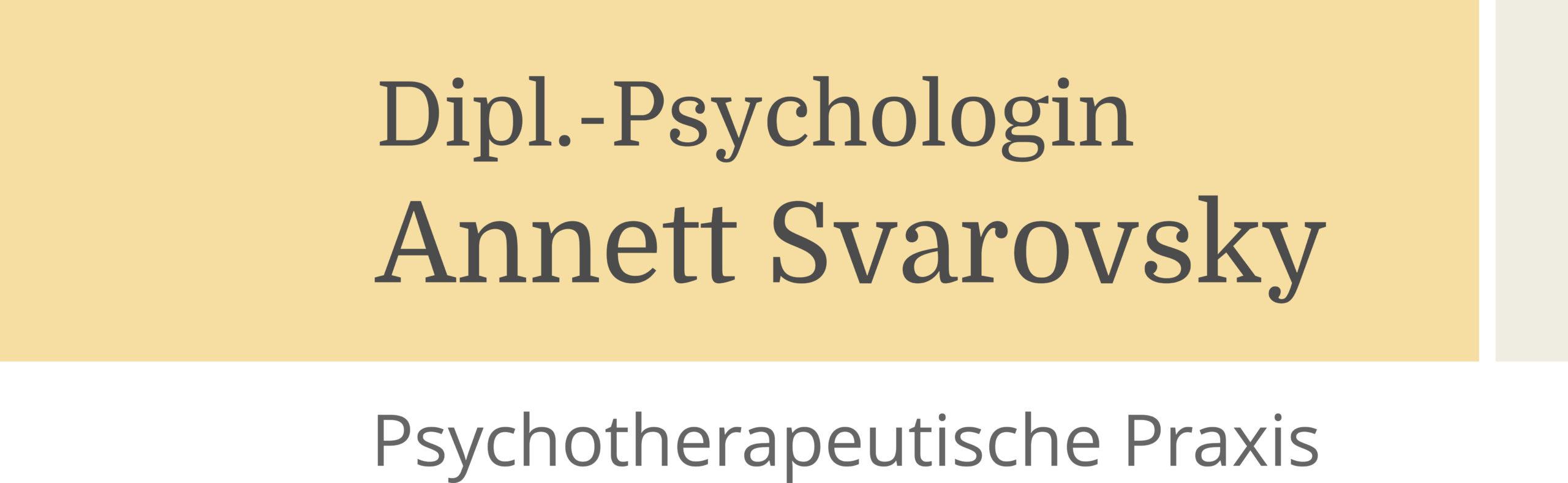 Psychotherapie Praxis Leipzig Dipl.-Psych. A.Svarovsky